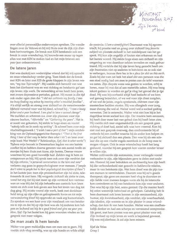 Walter Kempler,zijn leven,art.sjef de Vries,dl.2