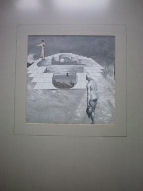 ---collage ,verworven van papierkunstenaar Sjef de Vries