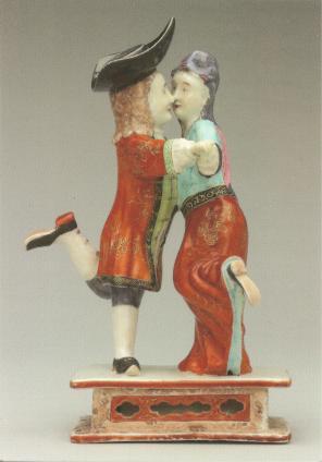 dansend hollands paar_CHINA-18e eeuw