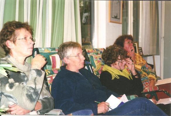 intervisie EHV,vlnr.Wilma,Vivine,Petra,Willemien